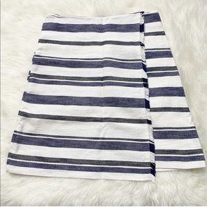 LOFT Striped Woven Skirt